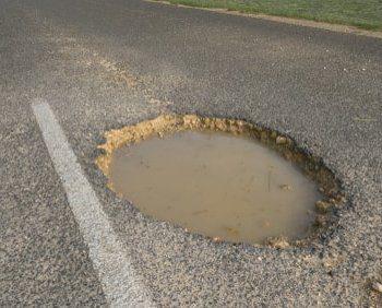 Potholes damage Kent