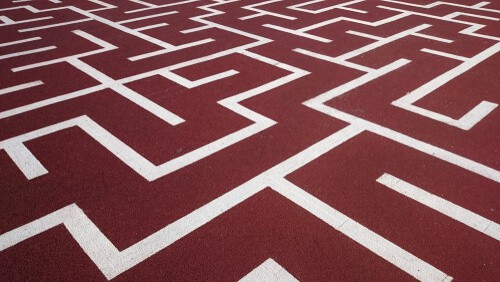 Maze playground marking