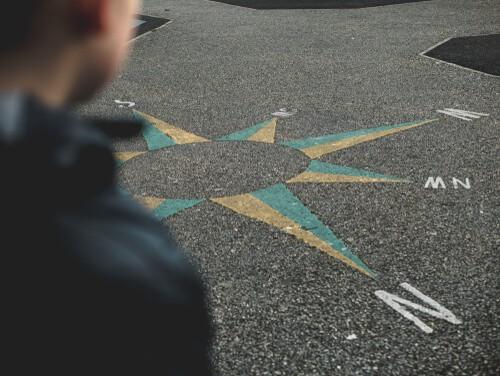 Compass playground marking
